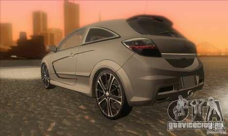 Opel Astra GTC DIM v1.0 для GTA San Andreas вид сзади слева