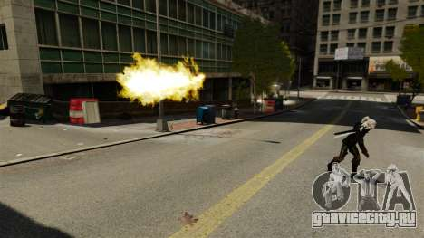 Огонь в руках Геральта для GTA 4 второй скриншот