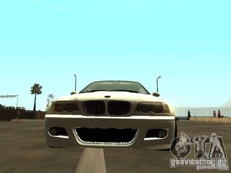 BMW M3 E46 v1.0 для GTA San Andreas вид сзади слева