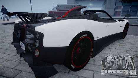 Pagani Zonda Cinque Roadster для GTA 4 вид справа