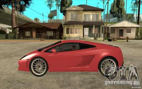 Lamborghini Gallardo LP550 Valentino Balboni для GTA San Andreas вид слева