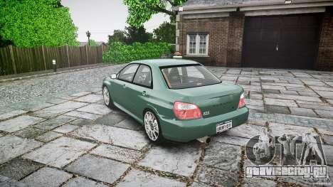 Subaru Impreza v2 для GTA 4 вид сзади слева