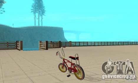 CUSTOM BIKES BMX для GTA San Andreas вид сзади слева