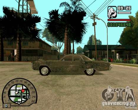 Plymouth Fury III для GTA San Andreas вид слева