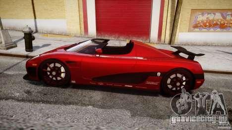 Koenigsegg CCXR Edition для GTA 4 вид слева