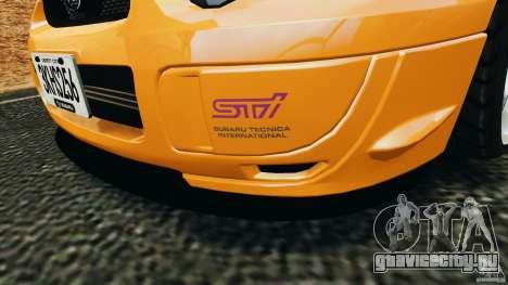 Subaru Impreza WRX STI 2005 для GTA 4 колёса