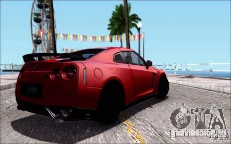 Nissan GTR Egoist 2011 (Версия с грязью) для GTA San Andreas вид сбоку