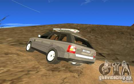 Land Rover Range Rover для GTA San Andreas вид сзади слева