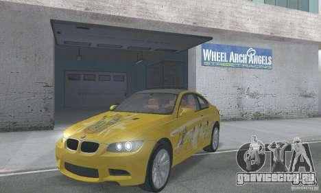 BMW M3 E92 Stock для GTA San Andreas вид снизу