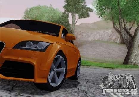 Audi TT-RS Coupe для GTA San Andreas вид изнутри