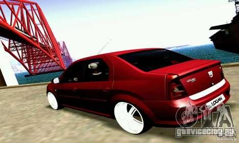 Dacia Logan 2008 для GTA San Andreas вид справа