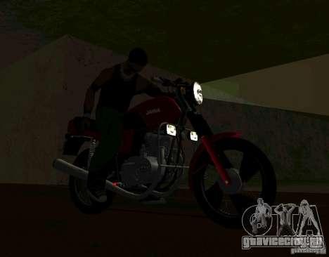 Jawa 350-638 Luxe для GTA San Andreas вид справа