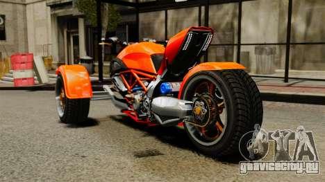 Ducati Diavel Reversetrike для GTA 4 вид сзади слева