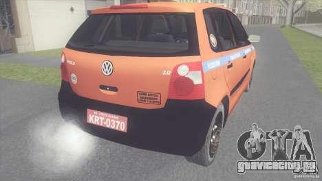 VW Polo Taxi de Porto Alegre для GTA San Andreas вид слева