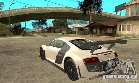 Audi R8 LMS v1 для GTA San Andreas вид сзади слева
