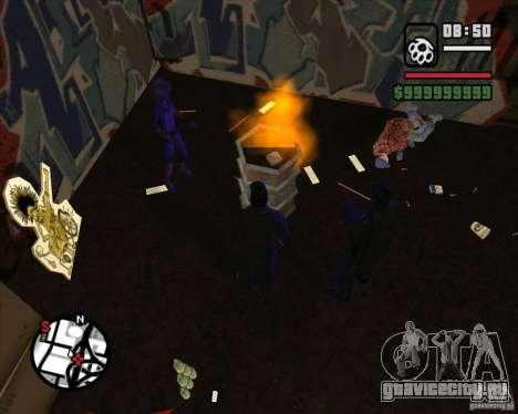 Бомжи в переулке для GTA San Andreas четвёртый скриншот