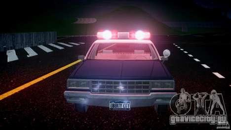 Chevrolet Impala Police 1983 v2.0 для GTA 4 салон