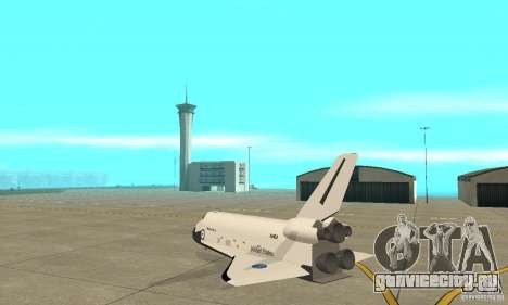 Space Shuttle Discovery для GTA San Andreas вид сзади слева