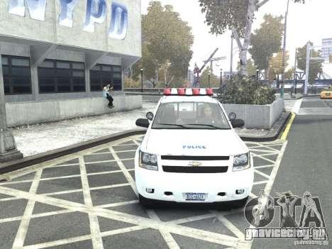 Chevrolet Tahoe NYCPD для GTA 4 вид справа