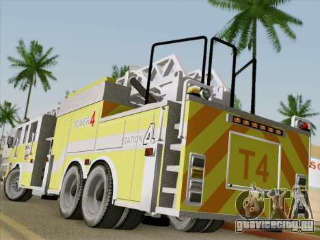 Pierce Arrow XT BCFD Tower Ladder 4 для GTA San Andreas вид сзади слева