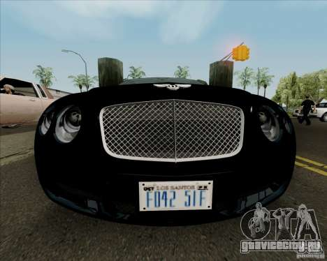 Bentley Continental GT V1.0 для GTA San Andreas вид снизу