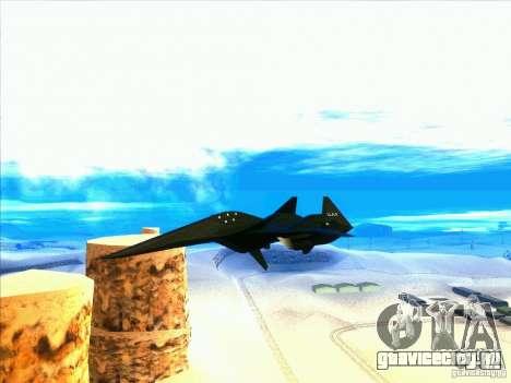 ADF-01 Falken для GTA San Andreas вид изнутри