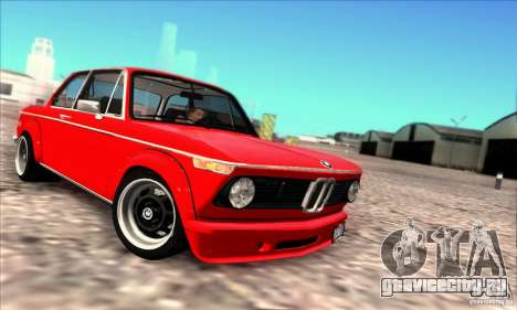 BMW 2002 Turbo для GTA San Andreas вид сзади слева