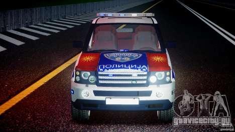 Range Rover Macedonian Police [ELS] для GTA 4 вид снизу