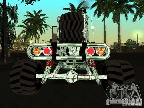 Kenworth W900 Monster для GTA San Andreas вид сзади слева