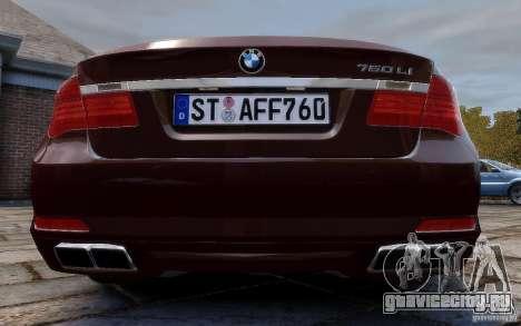 BMW 760Li 2011 для GTA 4 вид справа