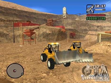 Caterpillar T530 для GTA San Andreas вид сзади