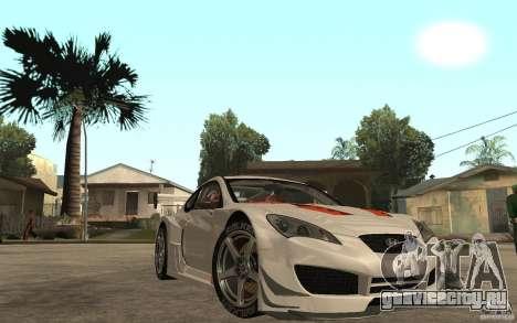 Hyundai Genesis Coupe Pikes Peak для GTA San Andreas вид сзади