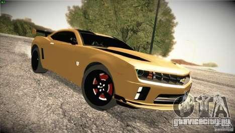 Chevrolet Camaro SS Transformers 3 для GTA San Andreas вид сзади