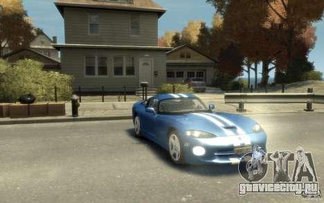 Dodge Viper GTS для GTA 4 вид сзади