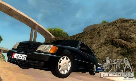Mercedes-Benz W140 S600 Long Deputat Style для GTA San Andreas