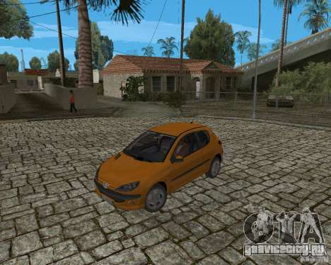 Peugeot 306 для GTA San Andreas вид сзади