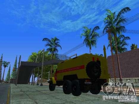 Урал 4320 ГОРСВЕТ для GTA San Andreas вид сзади слева