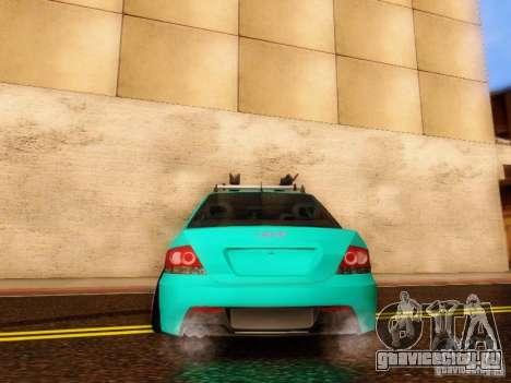 Mitsubishi Lancer для GTA San Andreas вид изнутри