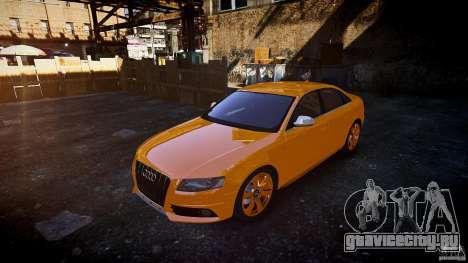 Audi S4 2010 для GTA 4 вид сзади