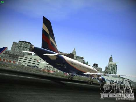 Airbus A320 АэроФлот Российские Авиалинии для GTA San Andreas вид сзади