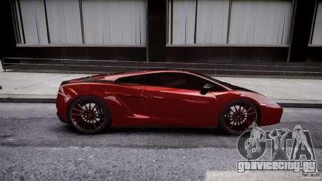 Lamborghini Gallardo Superleggera 2007 (Beta) для GTA 4 вид сбоку