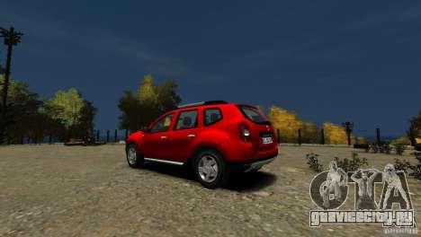 Dacia Duster SUV 4x4 2010 для GTA 4 вид сзади слева