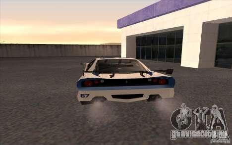 Новый Turismo для GTA San Andreas вид сзади слева