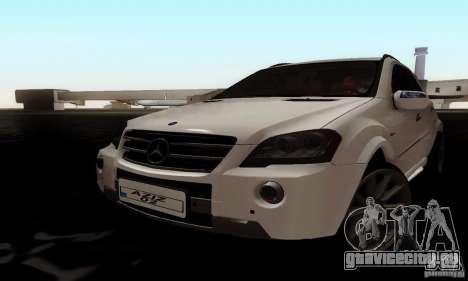 Mercedes Benz ML63 AMG для GTA San Andreas вид сзади слева