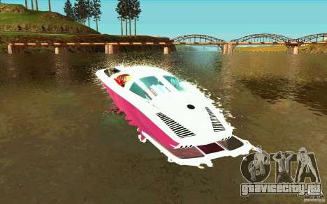 Mamba Speedboat для GTA San Andreas вид сзади слева
