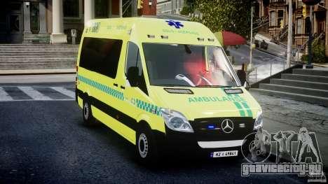 Mercedes-Benz Sprinter PK731 Ambulance [ELS] для GTA 4 вид сзади