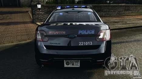 Ford Taurus 2010 Atlanta Police [ELS] для GTA 4 двигатель