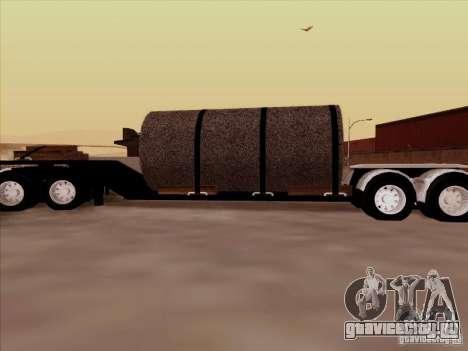 Прицеп к Peterbilt 378 Custom для GTA San Andreas вид слева