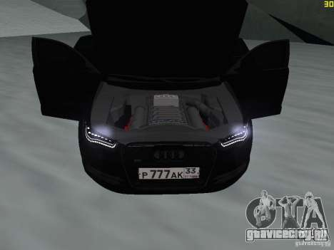 Audi A6 (C7) для GTA San Andreas вид изнутри
