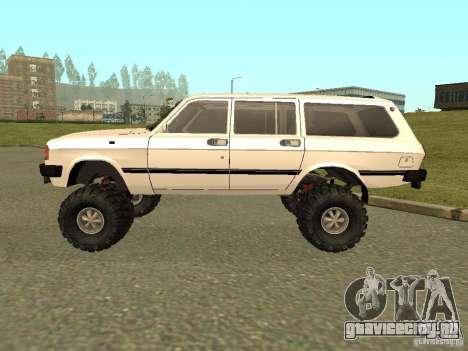 ГАЗ 31022 Волга 4х4 для GTA San Andreas вид сзади слева